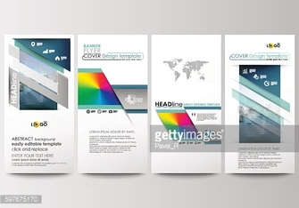 Flyers set, modern banners. Business templates. Cover design template, easy