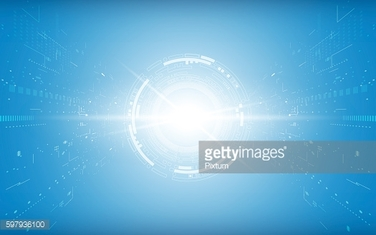 communication tech innovation concept speed movement perspective tunnel design background