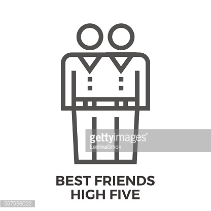 Best friends high five