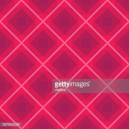 Seamless vector background with rhombus pink pattern, repeated fabric backdrop