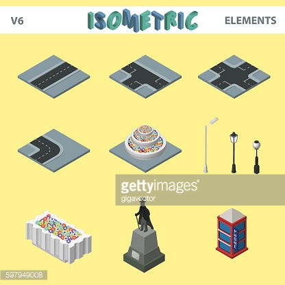 Isometric elements for cityscape