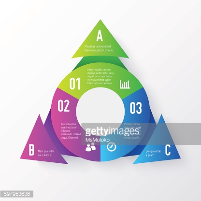 Vector elements for infographics. Template of a pie chart with