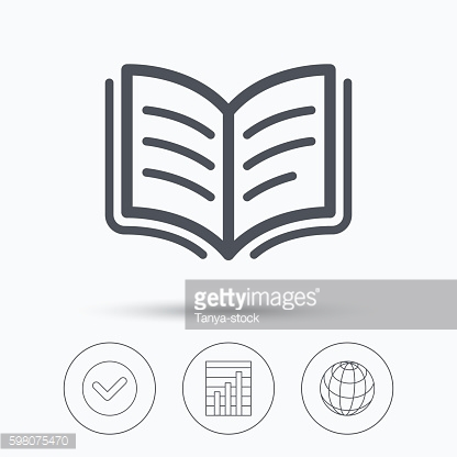 Book icon. Study literature sign.