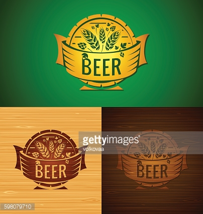 Set of vector templates beer emblem