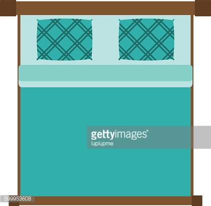 Vector bed icon isolated
