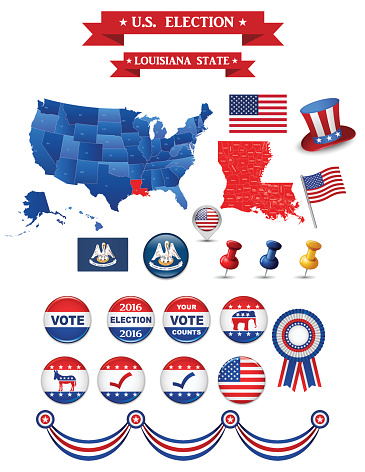 US Presidential Election 2016. Louisiana State
