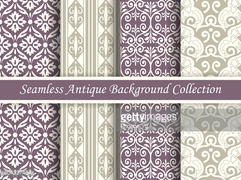 Antique seamless background collection_144