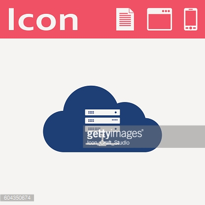 Icon of computer server, vector illustration