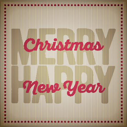 Christmas and new year Greeting Design