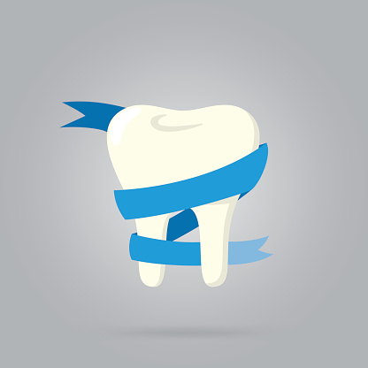 Tooth logo isolated, vector