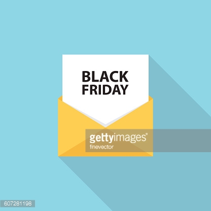 Black Friday sales letter, email or message.