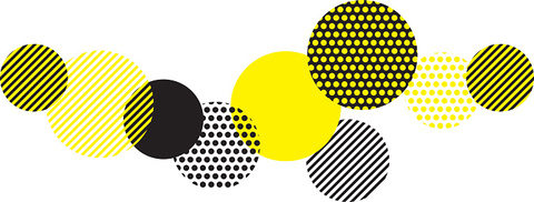 yellow and black abstract geometry pattern.