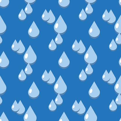 Blue vector water drops seamless pattern