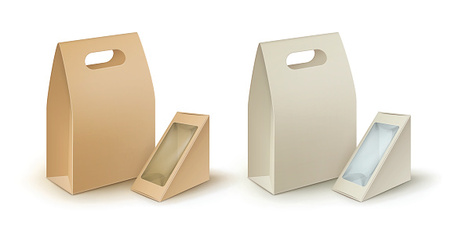 Set of Rectangle Triangle Take Away Lunch Boxes