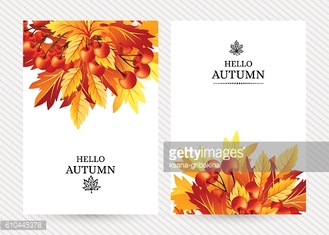 Autumn background with fall maple tree leaves