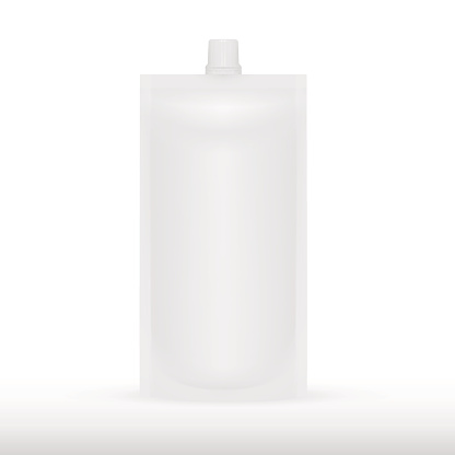 Big Blank Plastic Spouted Pouch For Sauce, Mayonnaise Or Ketchup