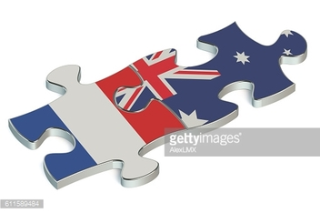 Australia and France puzzles from flags