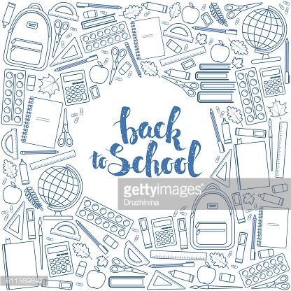 Back to school circle shape template