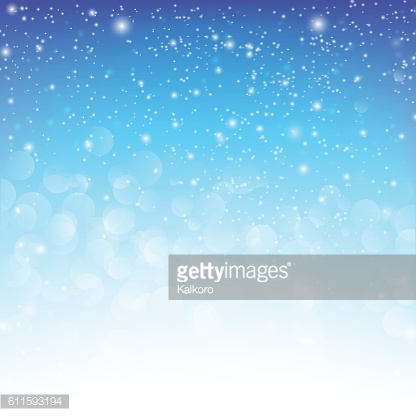 Snow fall with bokeh abstract blue background vector illustratio