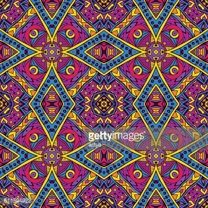 colorful geomtric ethnic seamless pattern ornament