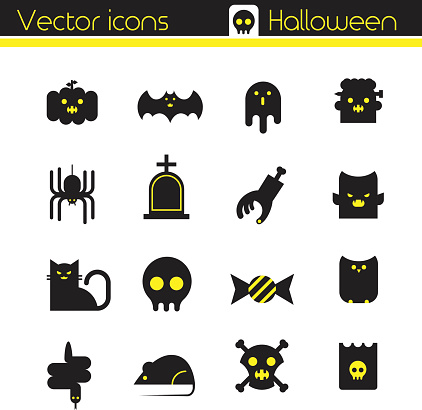 The Halloween charater set, Vector icons