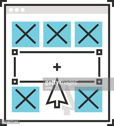 Sweets icon, wireframe concept