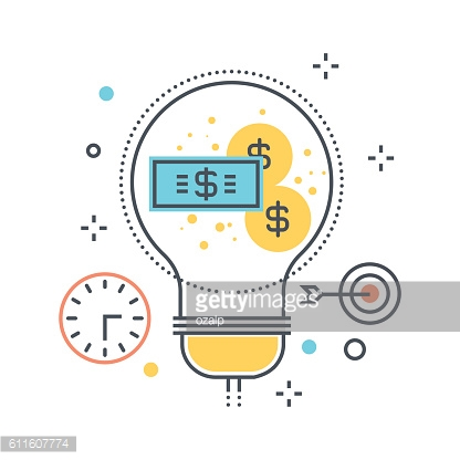 Color line, business idea illustration