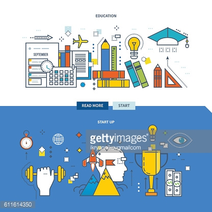 Concept of modern education, training and start-up  the project.