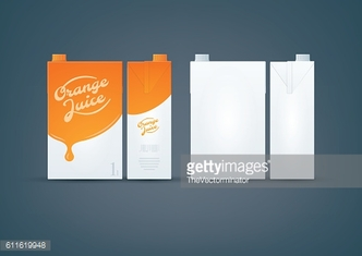 Orange / White Carton box mock-up