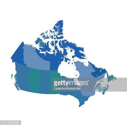 Canada political vector map