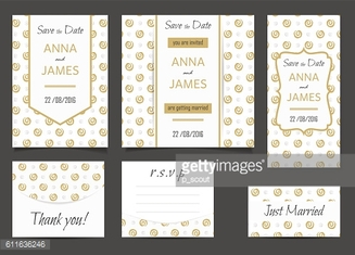 Beautiful wedding set of printed materials with a abstractl design.