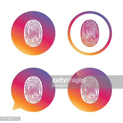 Fingerprint sign icon. Identification symbol.
