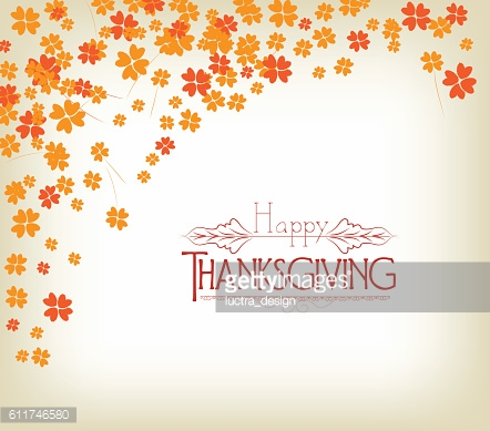 Thanksgiving Day background with maple leaf