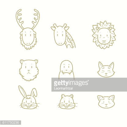 Various animal outline