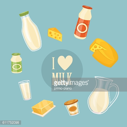 I love milk banner with dairy products