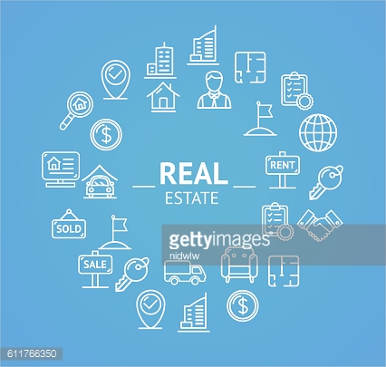 Real Estate Corporate Sign Concept. Vector