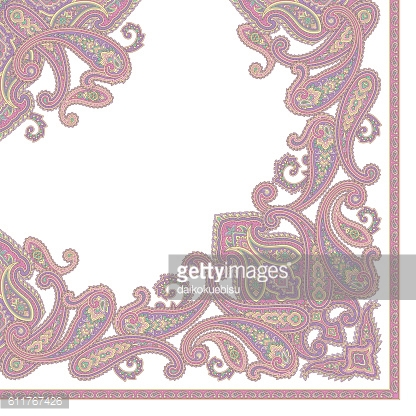 Paisley scarf design