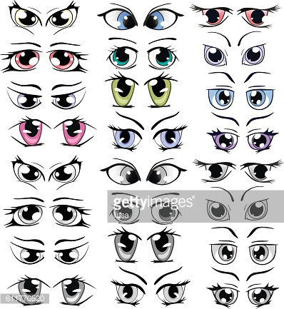 Complete Set of the Drawn Eyes for you Design