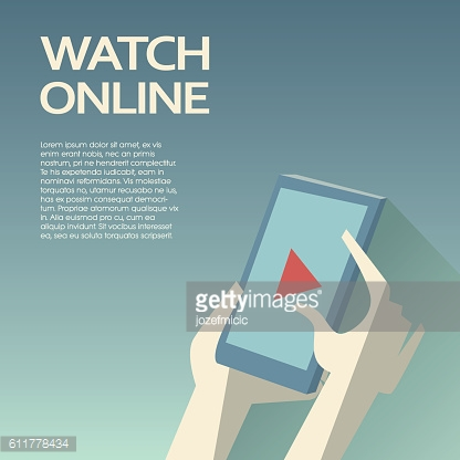 Video streaming on smartphone. Watch online videos poster suitable for