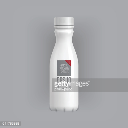Blank packaging template mockup isolated on grey.