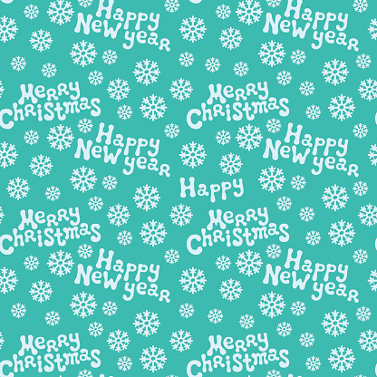 Merry Christmas and Happy New Year. Holiday  seamless pattern. Background