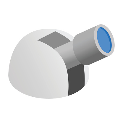 Observatory 3d isometric icon