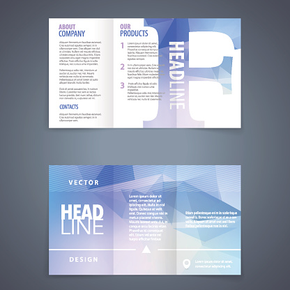 Brochure template with letter f