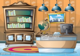 cartoon vector illustration interior spa room with separated layers
