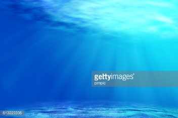 underwater backgrounds with sun ray and water ripple.
