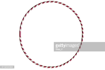 The hula Hoop silver with red isolated on white background.