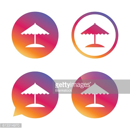 Beach umbrella icon. Protection from the sun.