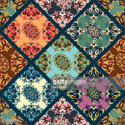 beautiful antique pattern on a dark background seamless pattern