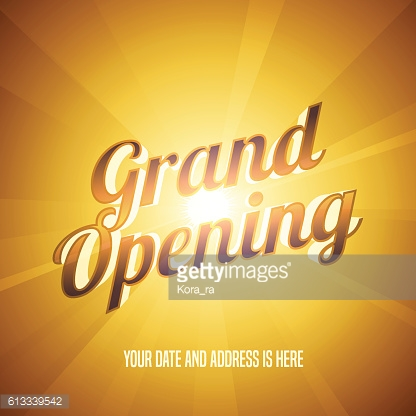 Grand opening vector illustration, background