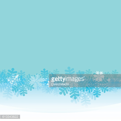 frozen frame with blue snowflakes belt vector